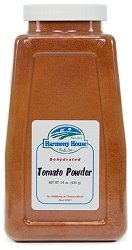 Harmony House Foods, Dried Tomato Powder, 24 Ounce Quart Size Jar