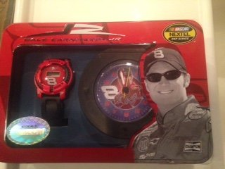 Nascar #8 Dale Earnhardt Jr Watch & Clock Gift Set ()