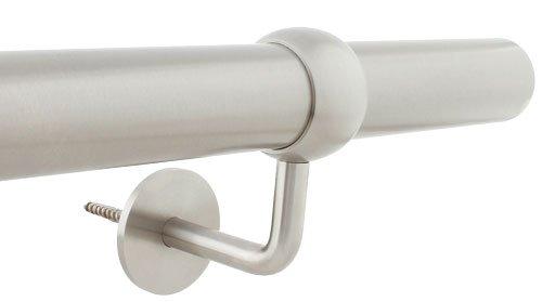 Komplett Set Modell Ela 2m Edelstahl Handlauf 200 cm