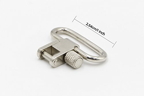 RioRand Quick Detachable Sling Swivels Set Bolt Action Iron Screw Type(Silver, 1-Inch Loop)