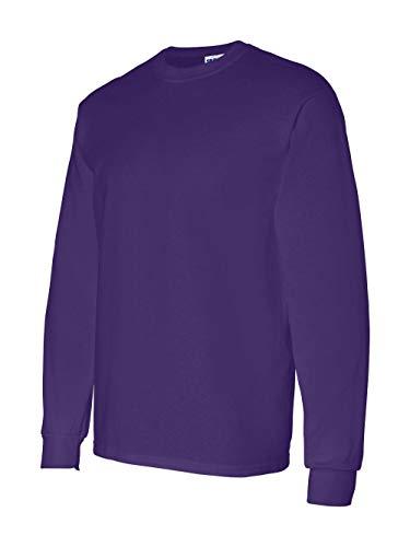 Gildan Adult Heavy Cotton Long-Sleeve T-Shirt - Purple - XL ()