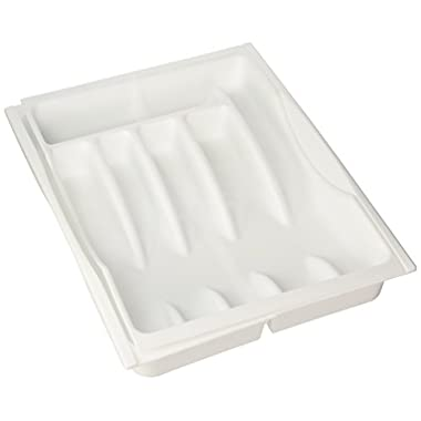 Rubbermaid Adjustable Cutlery Tray, White