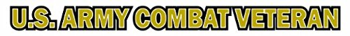 U.S. Army Combat Veteran Window Strip Decal Sticker (20 -