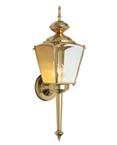 SAVOY HOUSE 07050-PB 1 LIGHT OUTDOOR WALL SCONCE FROM EXTERIOR COLLECTION Collection Polished Brass Fixture