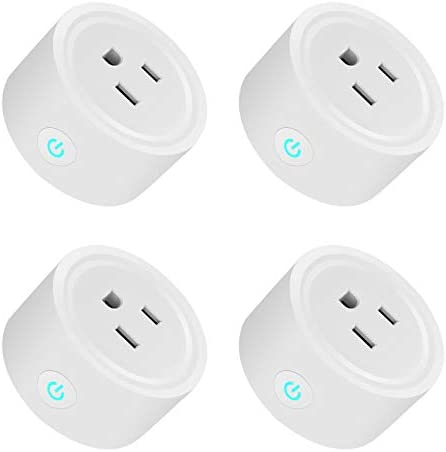 4pcs WiFi Mini Smart Plug, Voice Control with Alexa,IFTTT and Google Home Remote Control Devices from Anywhere,APP Socket Outlet Control Work Alexa Adapter,Only 2.4GHz Supported