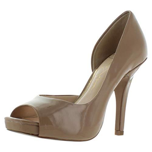 Jessica Simpson Josette D'Orsay Women's Open Toe Heels Beige