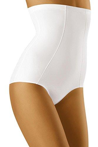 Wolbar Damen Figurformender Miederslip Mit Bauch-Weg Effekt WB36-2, weiß,Small