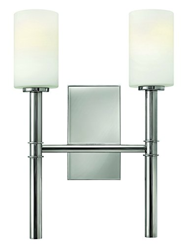 Chrome Sconce Hinkley (Hinkley 3582PN Transitional Two Light Wall Sconce from Margeaux collection in Chrome, Pol. Nckl.finish,)