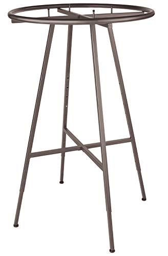 SSWBasics Round Clothing Rack - Raw Steel (48''-72'' H Adjustable 3'' increments) by SSWBasics (Image #1)