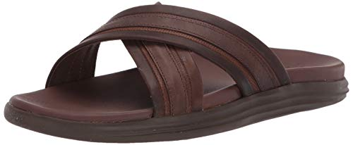 (Sperry Men's Gold Cup Regatta Cross Strap Slide Sandal, Brown, 9 M US)