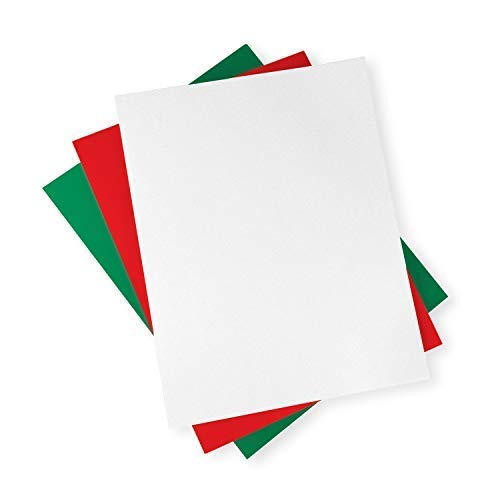 Printworks Holiday Cardstock, 67lb Heavyweight Cardstock, Includes Red, Green, and White Cardstock, 200 sheets total, Perfect for Christmas Cards, Gift Tags, Party Announcements & Craft