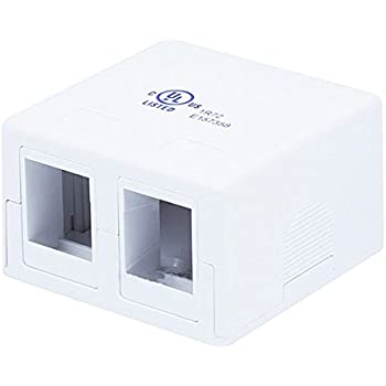Amazon Com Rj45 2 Port Wall Mount Biscuit Network