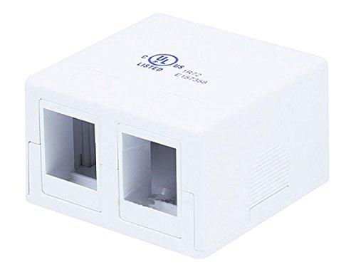 - Monoprice 2-Port Surface Mount Box (107089)
