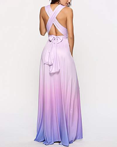 79fd68bdbd Cerimonia Lunga Viola Donne Abito Da D'onore Sera Shengwan Cocktail  Damigella Vestito Elegante v5wqxdPz