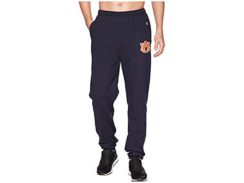 Champion College Men's Auburn Tigers Eco¿ Powerblend¿ Banded Pants Navy Small ()