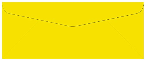 (100 Yellow #10 Envelopes - 9.5