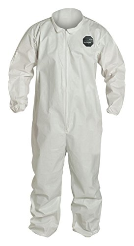 Proshield Nexgen White Coverall (DuPont NG125SWH3X002500 3X White Safespec 2.0 10 mil ProShield NexGen Disposable Coveralls With Front Zipper Closure, Laydown Collar And Set Sleeves (25 Per Case))