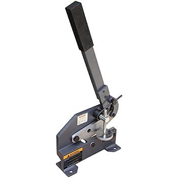 Kaka Industrial HS-6 6-Inch Sheet Metal Plate Shear, Heavy Steel Frame, Mounting Type Metal Shear, High Accuracy Manual Hand Plate Shear