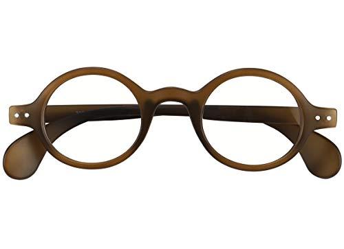 Agstum Retro Small Round Optical Prescription Eyeglass Frame (Brownish green)