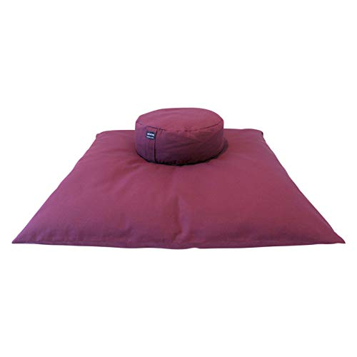 Still Sitting Meditation Cushion Set (2 Piece Zafu and Zabuton) (Burgundy) (Best Meditation Cushion Review)