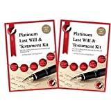2 X PLATINUM LAST WILL AND TESTAMENT KITS. 'Top of the range DIY Will Kit, Latest Edition, with full instructions included, direct from Publisher, Solicitor approved',