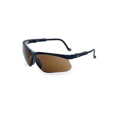 Uvex S3203 Genesis Safety Eyewear, Black Frame, Gold Mirror Ultra-Dura Hardcoat Lens