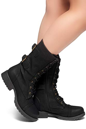 Buy womans military style boots