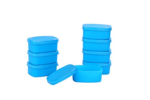 Signoraware Cute Container Set, 100ml, Set of 8, Turkish Blue