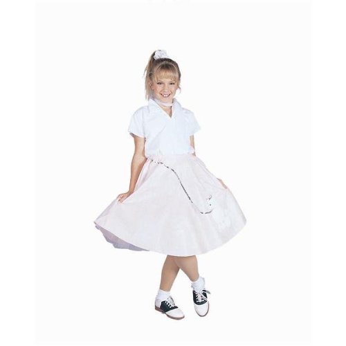 Halloween Costumes W/ Black Dress (Poodle Skirt w/ Shirt - Black - Large Costume)