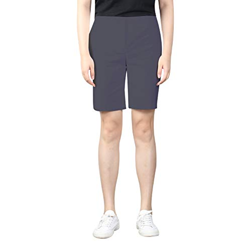 """KELLY KLARK Women's 9"""" Chino Shorts, Stretch Casual Elegant Golf Bermuda Shorts"""