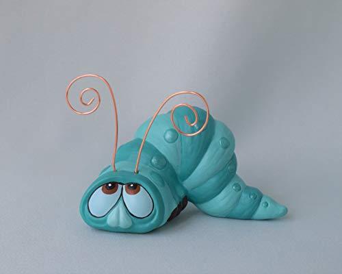 Ceramic Worm Figurine Yard Art