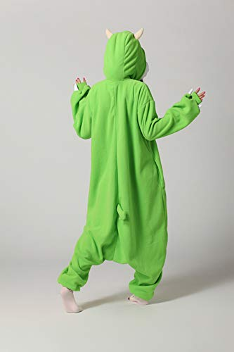 Es Unico Mike Wazowski Onesie Pajama Costume for Adults and Teenagers X-Large by Es Unico (Image #4)