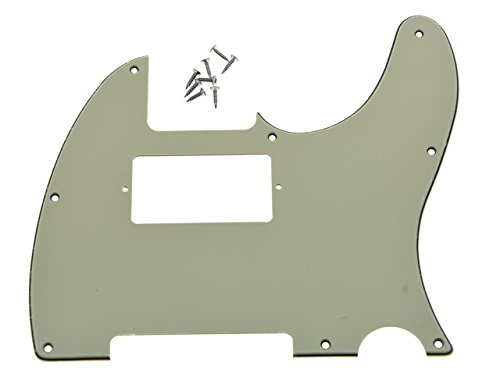 KAISH 8 Hole Tele Guitar Humbucker Pick Guard for USA/Mexican Fender Telecaster Aged White 3 Ply (Telecaster Humbucker)