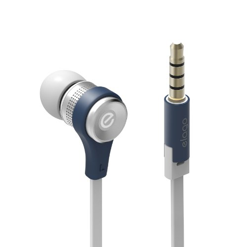 elago E6 Isolate Sound In-Ear Earphones (All multimedia devices/phones using 3.5mm connection) (Jean Indigo) by elago