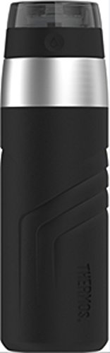 THERMOS Vacuum Insulated Stainless Steel Sporty Direct Drink Bottle, 20-Ounce, - Drink Bottle Vacuum