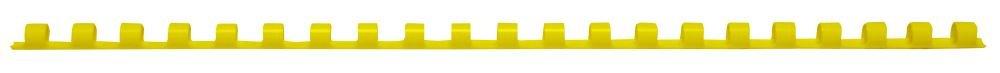 Texet 78246j 6 mm, 30 fogli per rilegatura a pettine, in plastica per rilegatura, 21 anelli, confezione da 100, colore: giallo