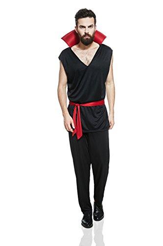Adult Men Vampire Halloween Costume Dark Devil Demon Satan Dress Up & Role Play (Standard) (Modern Vampire Costumes)