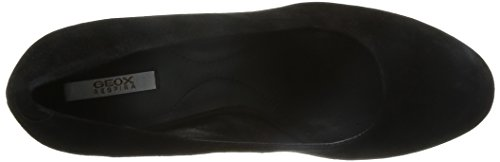 Geox D Inspiration C - Zapatos de vestir de Piel para mujer Negro negro