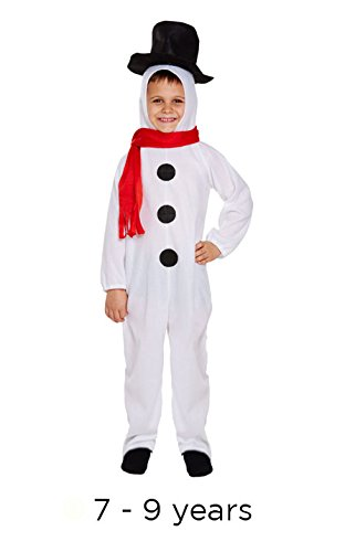 Henbranadt Big Boys' Fancy Dress Snowman Medium White (Fancy Snowman)