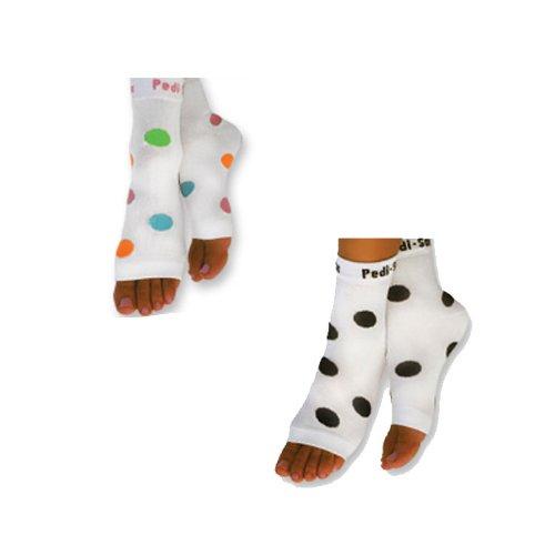 PEDI SOX Multi Color Polka Dot & Black and White Polka Dot 2 pair