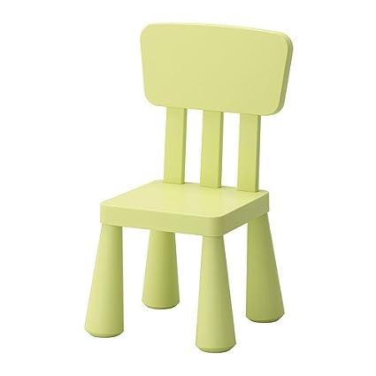 IKEA MAMMUT - Children's chair, light green by Ikea