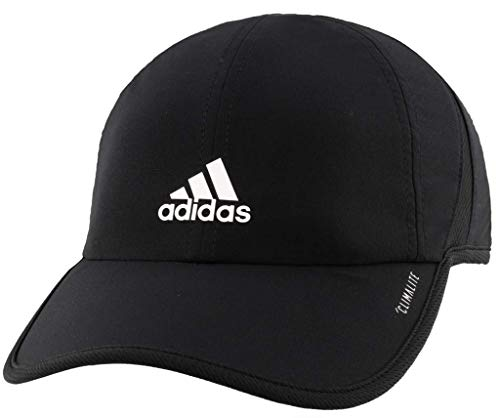 Adjustable Performance Visor - adidas Boys / Youth Superlite Relaxed Adjustable Performance Cap, Black/White, One Size