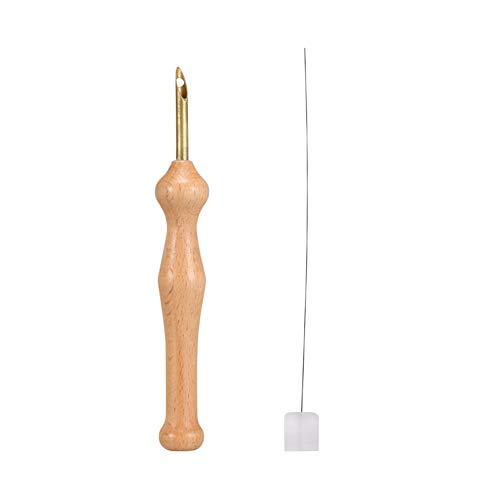 Finerplan Magic Embroidery Pen Punch Needle Felting Threader Set Wooden Handle Table Cloths Craft Tools DIY Sewing