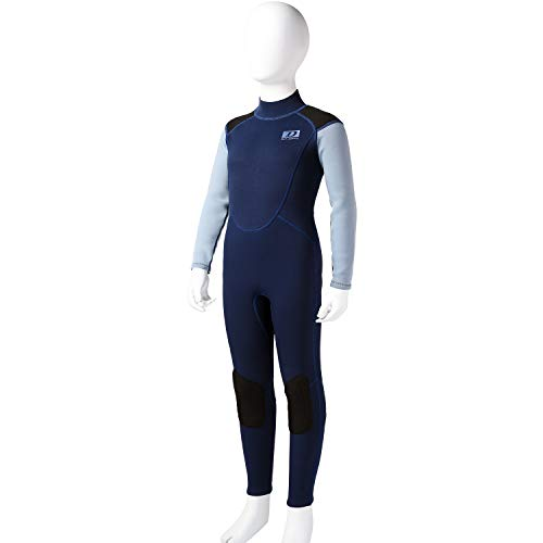 dark lightning Youth 3/2mm Wetsuit, 2019 Neoprene Thermal Swimsuit, Boy's One Piece Wet Suits for Professionally Scuba Diving, Full Body Teenage Suit, Size 14 (Best 3 2 Wetsuit 2019)