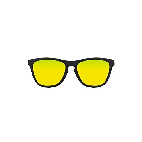 de0ad6d9ba KOALA BAY - Gafas de Sol Palm Beach Negro Mate Lentes Amarillo Lovely