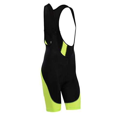 (Men's Breathable 6D Padded Classic Bib Cycling Shorts Fluorescent Yellow)
