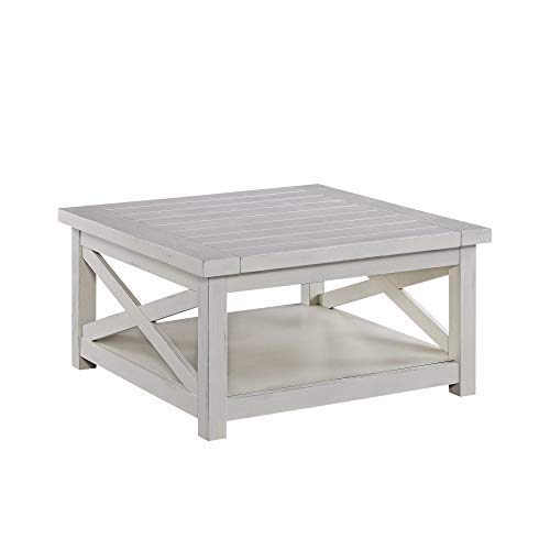 Seaside Lodge White Coffee Table by Home Styles (Coffe Large Table)
