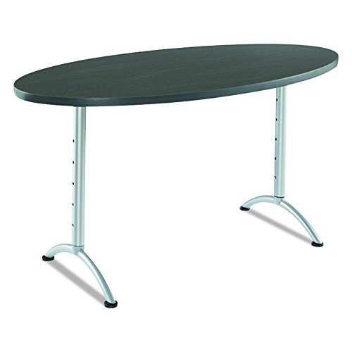 Iceberg ICE69625 ARC 6-foot Adjustable Height Oval Conference Table, 36'' x 72'', Gray Walnut/Silver Leg by Iceberg (Image #5)