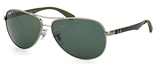 Ray-Ban Tech RB 8313 Sunglasses Gunmetal / Grey Polarized 61mm & HDO Cleaning Carekit - Ray Cleaning Ban