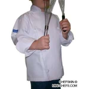 [REG CHEFSKIN CHEF SET Kids Children Chef Jacket + Apron +Hat , EXCELLENT COSTUME FOR HALLOWEEN, CHRISTMAS, SCHOOL fits kids 6 - 9 years] (Chef Costumes For Kids)